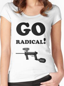 Paintball. Go Radical. BL. Women's Fitted Scoop T-Shirt