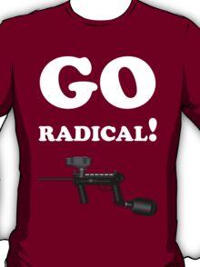 Paintball. Go Radical. WHI. T-Shirt