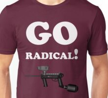 Paintball. Go Radical. WHI. Unisex T-Shirt