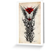 Demon Sleeve Greeting Card