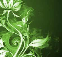 Flames Green I by Joey Kuipers