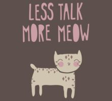 Less Talk, More Meow Kids Clothes