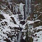 A Frozen Llanrhaeadr Waterfall, Powys, UK by Jacqueline Longhurst
