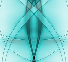 Double Abstract Baby Blue by J. Danion