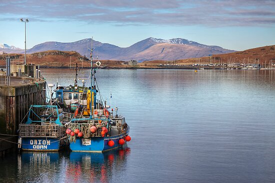 Looking towards Mull from Oban by Christine Smith