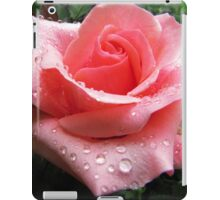 Pink Rose with Dew  iPad Case/Skin