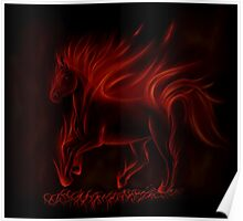 Flame Horse Poster