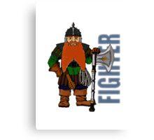 Dwarf Fighter Canvas Print