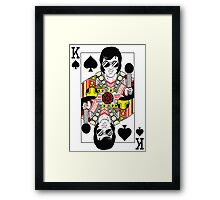 Elvis Presley Vegas Style Playing Card Framed Print