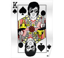 Elvis Presley Vegas Style Playing Card Poster