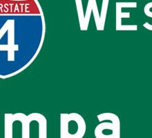Tampa, FL Road Sign, USA Sticker