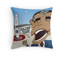 Obama et le ICBM trops cher Throw Pillow