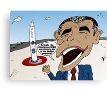 Obama explains the Minuteman ICBM test delay Canvas Print