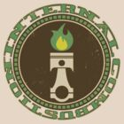 Flaming Piston IC - Vintage Green by Benjamin Whealing