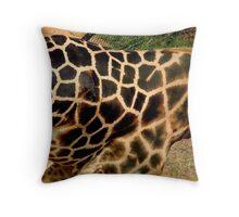 Giraffe Art Throw Pillow