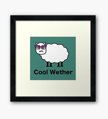 Cool Wether Framed Print
