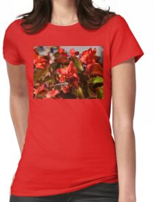 Red Begonia Womens Fitted T-Shirt