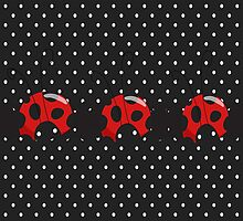 Polka Dot Lady Bugs by purplesensation