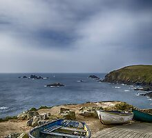 Boats at The Lizard by Chris Thaxter