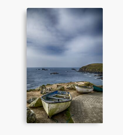 Boats at The Lizard Canvas Print