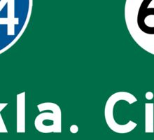 Oklahoma City, OK Road Sign, USA Sticker