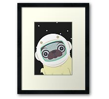 Pug in Space Framed Print