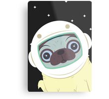 Pug in Space Metal Print