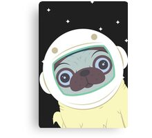 Pug in Space Canvas Print
