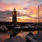 Desenzano del Garda Marina Old Lighthouse Sunrise by kirilart