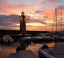 Desenzano del Garda Marina Old Lighthouse Sunrise by kirilart