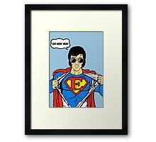 Superman Super Elvis Presley  Framed Print