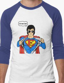Superman Super Elvis Presley  Men's Baseball ¾ T-Shirt