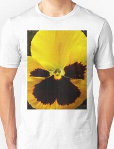 Golden Black Eyed Pansy Violet Yellow Flower T-Shirt