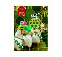 Menage a Mutton - St Patrick's Day Parade Art Print