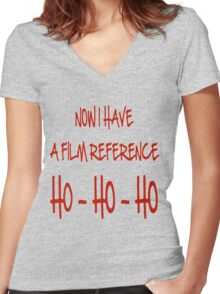 Now I Have a Film Reference Women's Fitted V-Neck T-Shirt