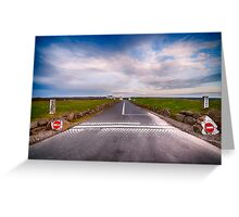 Lands End Start and Finish Line Greeting Card