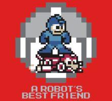 Megaman Riding Jet Rush Kids Tee