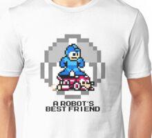 Megaman Riding Jet Rush (Black Text) Unisex T-Shirt