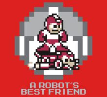 Red Megaman Riding Jet Rush One Piece - Short Sleeve