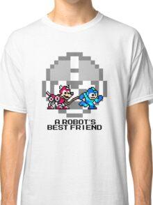 Megaman walking Rush (Black Text) Classic T-Shirt