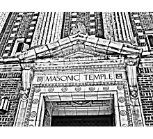 """The Masonic Temple"" Wilkes-Barre, Pennsylvania Photographic Print"