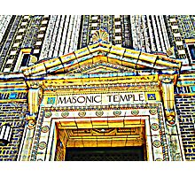 The Magnificant Masonic Temple, Wilkes-Barre, Pennsylvania Photographic Print