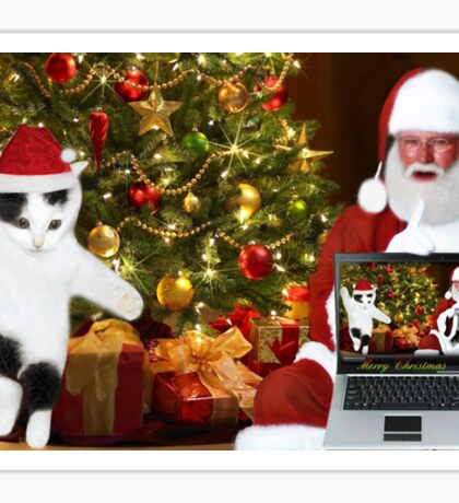 """✰˚ ˛★* """"SANTA IF THEY COULD ONLY SEE US NOW"""" HO ho HO ✰˚ ˛★* Sticker"""