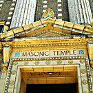 """The Masonic Temple"" Wilkes-Barre, Pennsylvania II by Gail Jones"