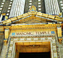 """The Masonic Temple"" Wilkes-Barre, Pennsylvania II by Gail Jones"