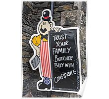 A Butcher Shop in Windermere England Poster