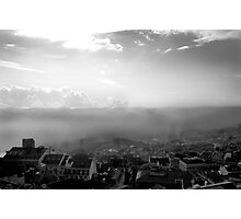 Lisbon - sea fog Photographic Print