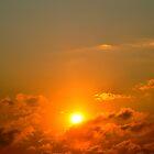 Orange Sunset by K. Abraham