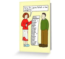Dating Questionnaire. Greeting Card