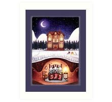 Christmas in the Burrow Art Print